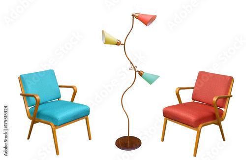 60er 70er Jahre Möbel Sessel Aus Den Sixties Stockfotos Und