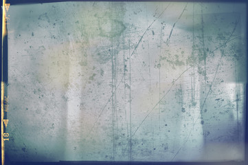 Blank grained and scratched film strip texture background Wall mural