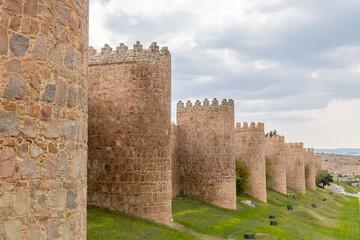 The city of Avila, in the Spanish province of Castilla y Leon
