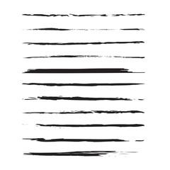 Modern Textured Brush Stroke. Grunge paint stroke. Black isolated paintbrush vector design.