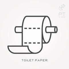 Line icon toilet paper