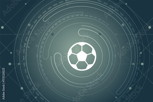 Modernes Wallpaper Mit Fussball Stock Image And Royalty Free
