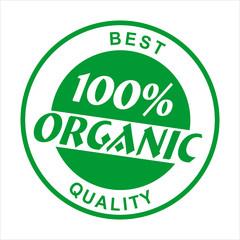 Natural logo or label. Lettering stamp. Vector illustration.