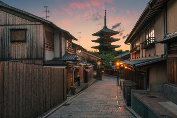 Sunset In The Old Streets of Kyoto
