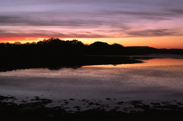Sunset Over Quanah Parker Lake in the Wichita Mountains