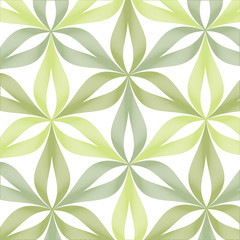 Abstract linear flower pattern