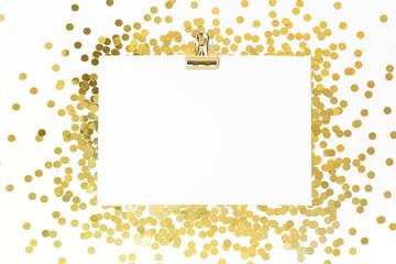 White paper and glitter