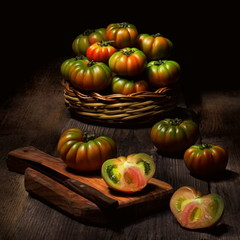Natura morta con pomodori siciliani
