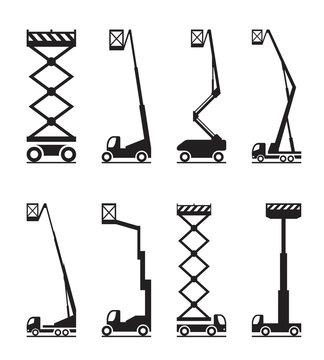 Industrial lifting equipment - vector illustration