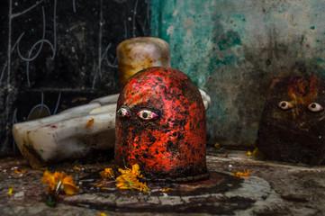 Monolith Shiva lingam and yoni, the Hindu symbol of fertility