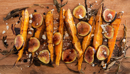 Sweet Potato Wedges with Figs