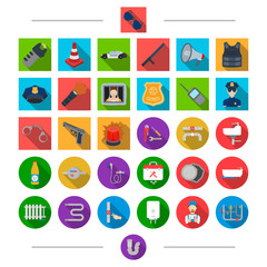 Equipment, , parts, material and other web icon in cartoon style. Crime, security, attributes, icons in set collection.