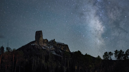 Chimney Rock and Milky Way
