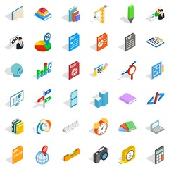 Graphic icons set, isometric style