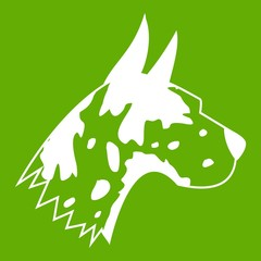 Great dane dog icon green