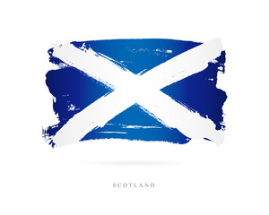 Flag of Scotland. Abstract concept
