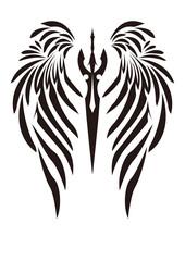 トライバル 翼と剣 天使の羽