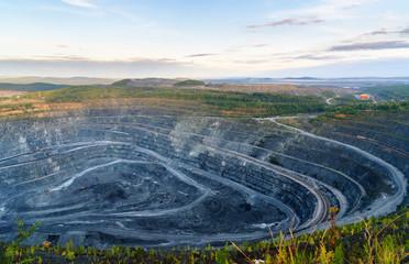 Western quarry Vysokogorsky GOK in Kachkanar. Sverdlovsk region. Russia.