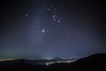 国師ヶ岳冬の星空