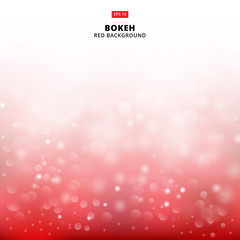 Red light background abstract design vector illustration blur circle bokeh, Vector
