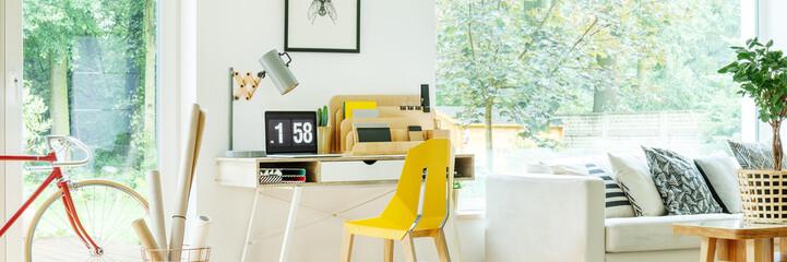 Handmade lamp on desk