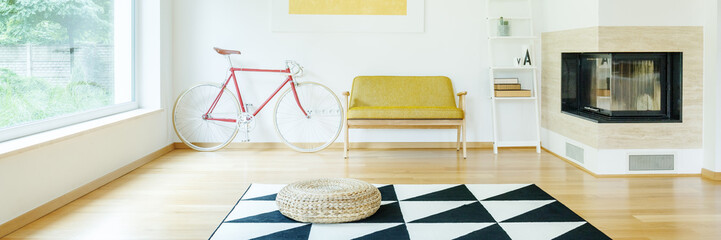 Simple room with bike