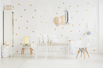 Baby's bedroom interior with chair