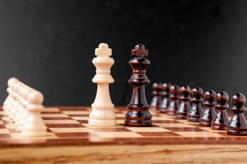Chess pieces on chessboard: the concept of negotiations