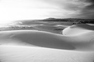 Sand mountains in the deser