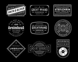 Foto auf Leinwand Retro Vintage Logo, Insignia and Badges 4