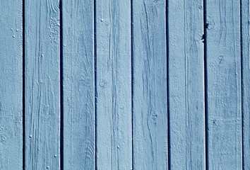 Blue color wood fence pattern.