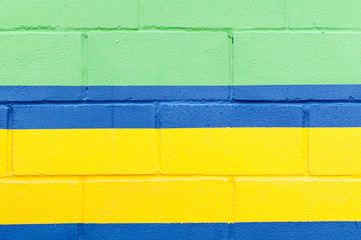 painted wall of colorful colors