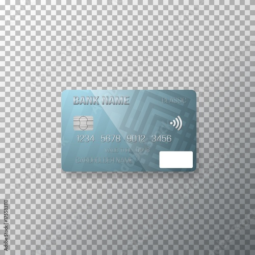 illustration of vector credit card photorealistic bank card
