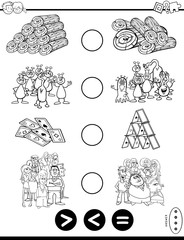 greater less or equal game coloring book