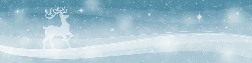 Reindeer christmas banner background
