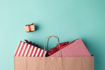 presents in paper bag