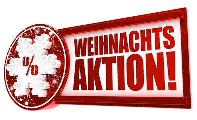 Weihnachtsaktion! Button, Icon