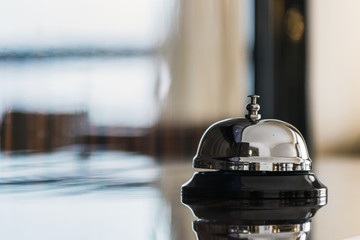 service bell on reception in hotel or restaurant Wall mural