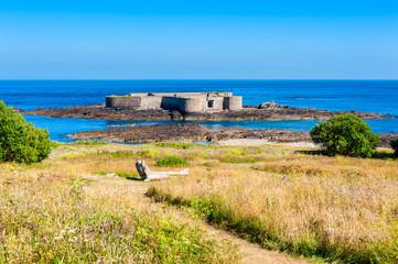 Fort Off The Coast of Alderney, Channel Islands, UK