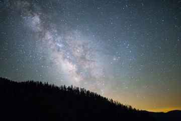 Milkyway Galaxy above Yosemite National Park