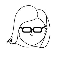 line default avatar woman to social user