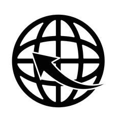 planet sphere with arrow around
