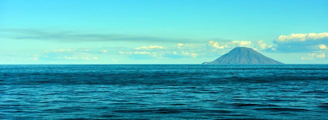 Volcano Stromboli seen from Tropea