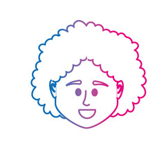 line avatar woman head to social user