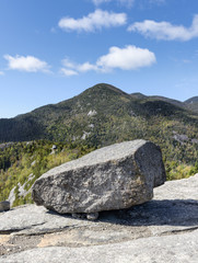 Granite Boulder and Rocky Peak, Adirondack Mountains