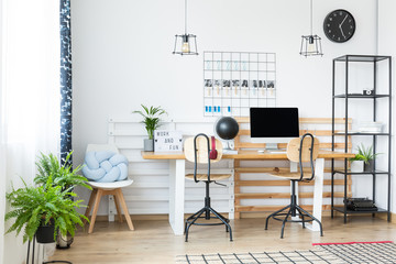 Simple home office with typewriter