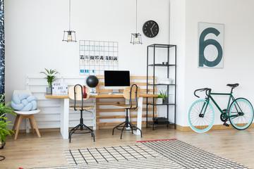 Workplace in scandinavian style