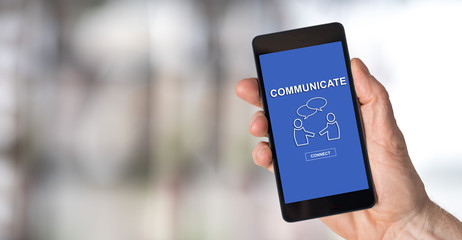 Communication concept on a smartphone