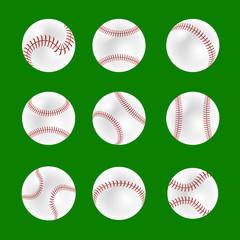 Set of Baseball Balls