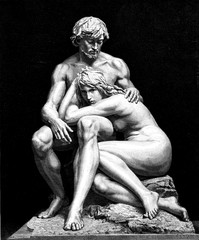 Paradise lost. Adam and Eve